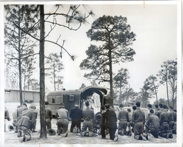 1940 army trailer church