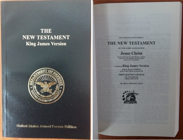 KJV New Testament, First Baptist Church, Milford Ohio