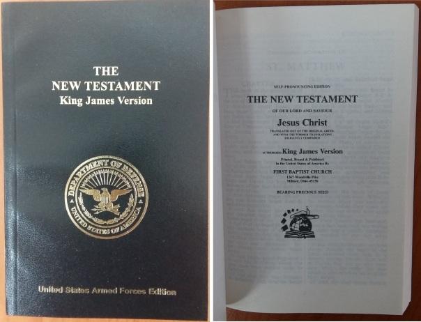 KJV New Testament, First Baptist Church, Milford Ohio