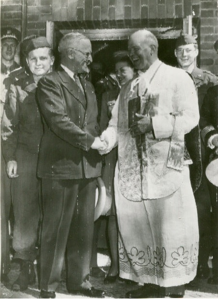 Chaplain Tierman and President Truman