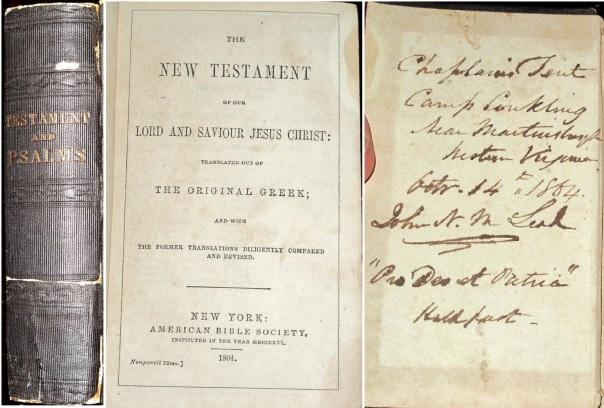 Civil War Bible with Pro Deo et Patria