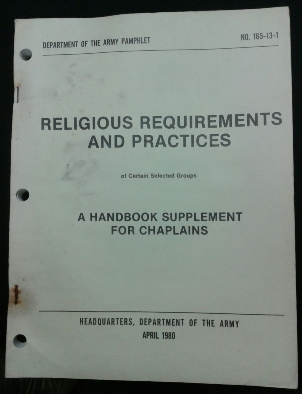 DA PAM 165-13-1 Religious Requirements and Practices, 1980