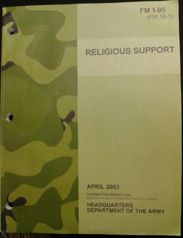 FM 1-05 Religious Support, 2003