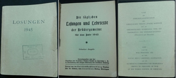 Devotional book for German POW in US POW Camp