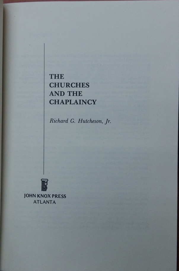Hutcheson-Richard-G-The-Churches-and-the-Chaplaincy