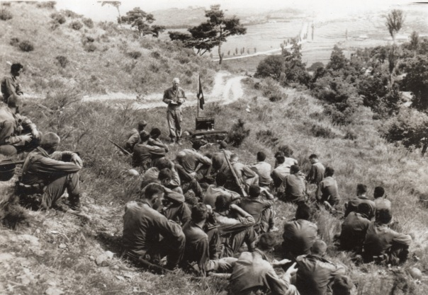 Chaplain Emanuel Carlsen, Korea-1950