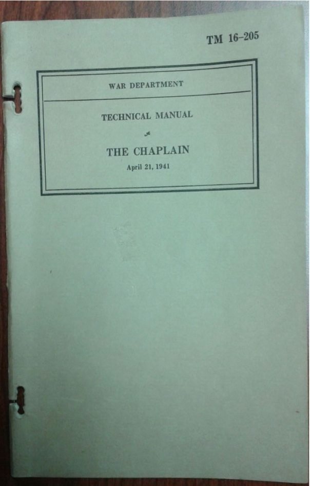 TM 16-205, The Chaplain, 21 April 1941