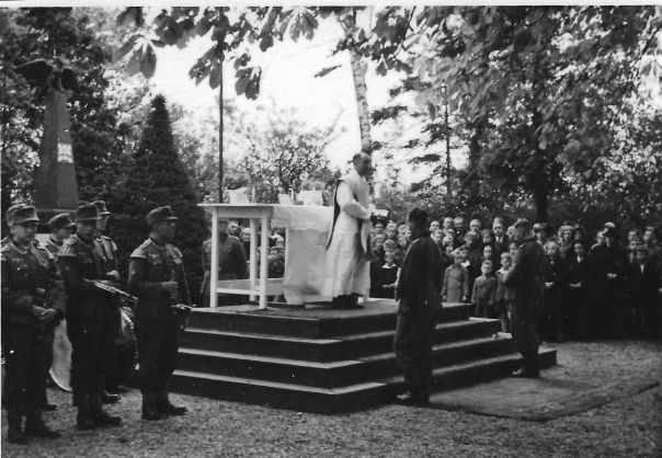 WW2 German Chaplain leading worship service