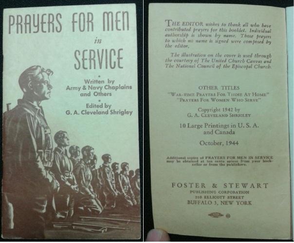 Prayers for Men in Service, 1944