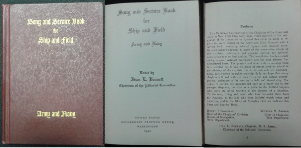 Song and Service Book for Ship and field