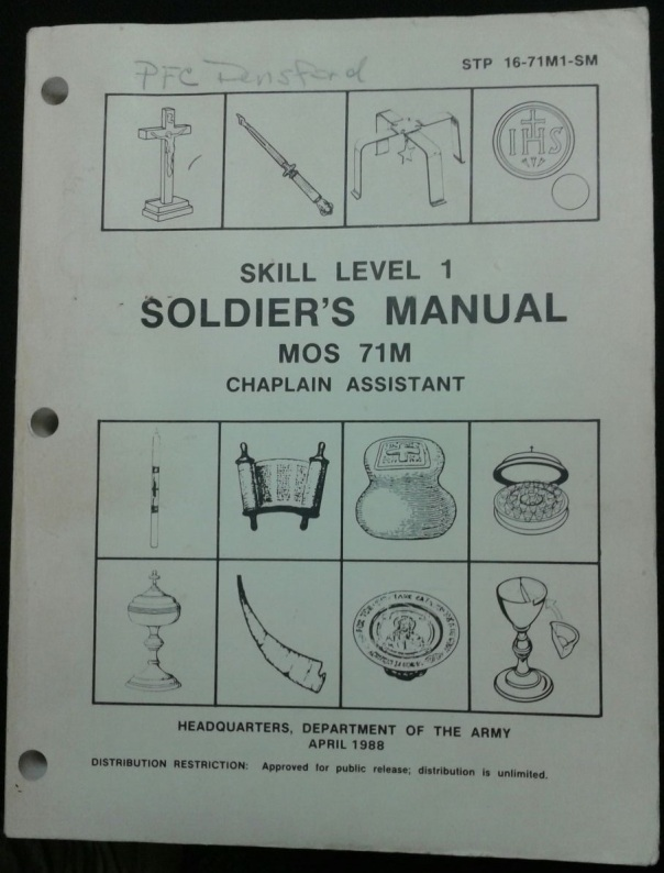 STP 16-71M1-SM Soldiers Manual Chaplain Assistant, 1988