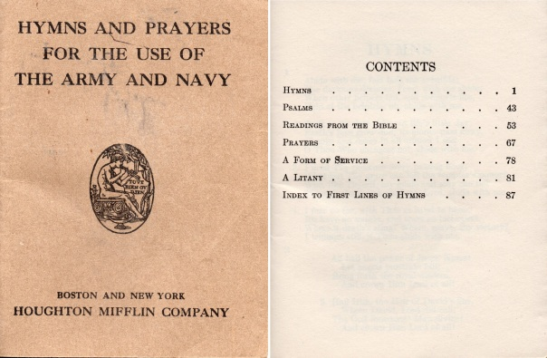 WW1 Hymns and prayers