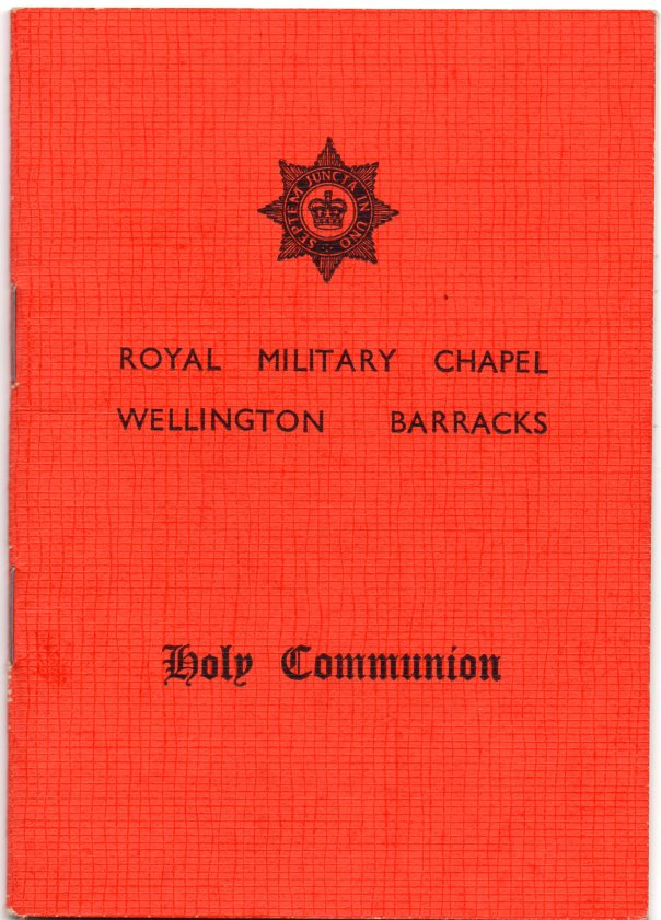 Holy Communion Book Royal Military Chapel Wellington Barracks