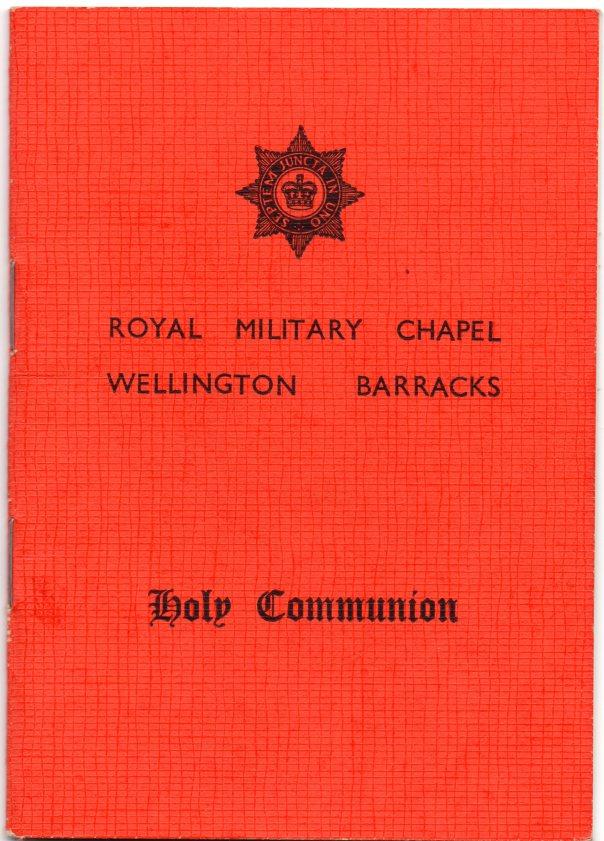 Holy Communion Book Royal Military Chapel Wellington Barracks
