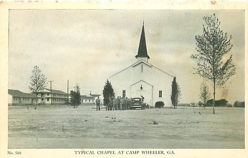 Typical Chapel at Camp Wheeler, Georgia