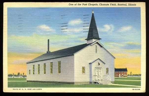 One of the post chapels, Chanute Field, Rantoul, Illinois