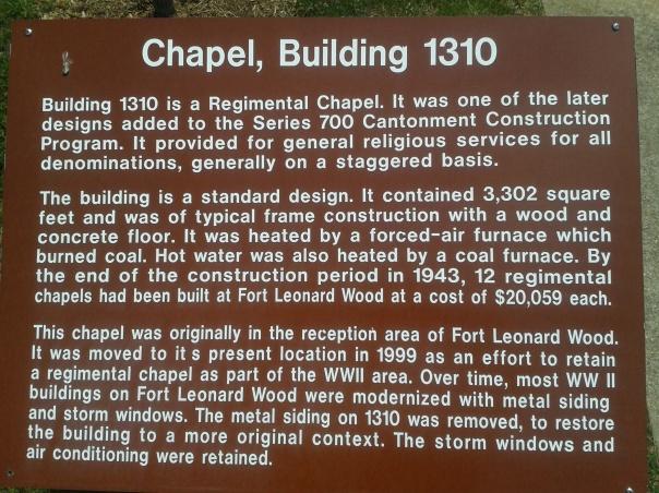 Contonment Chapel Information
