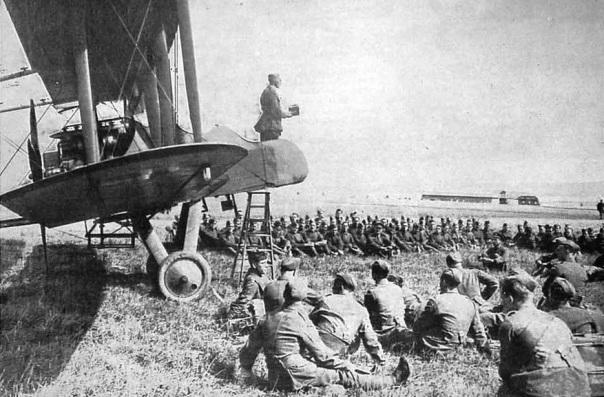 WW1 British Chaplain on plane