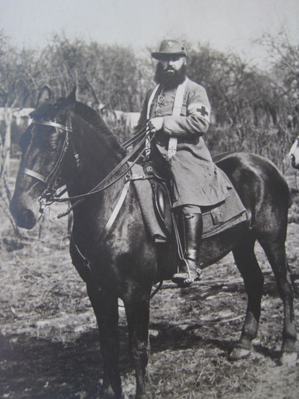 German Chaplain on horse