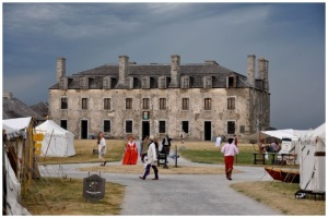 The French Castle at Old Fort Niagara. The Jesuit Chapel is on the 2nd floor, just left of center, in the front. (photo from OldFortNiagara.org)