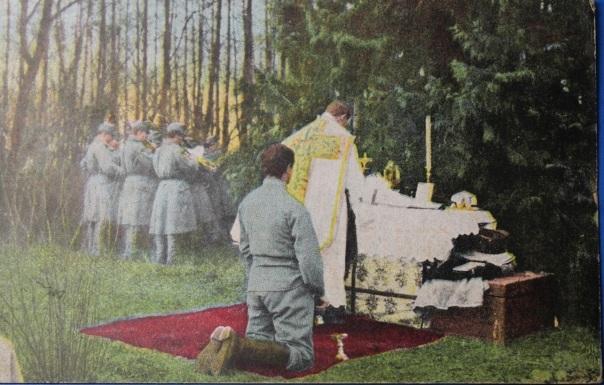WW1 Austrian Field Worship Service