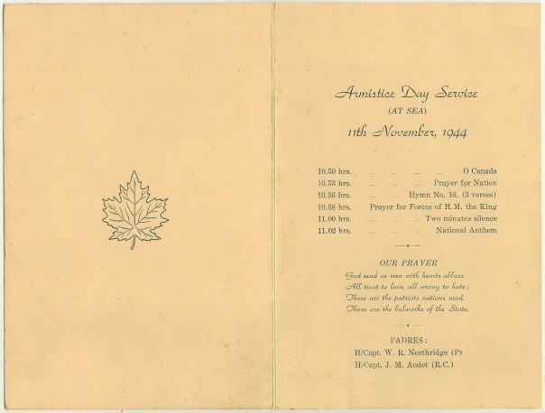 Canadian Armistice Day Service 1944