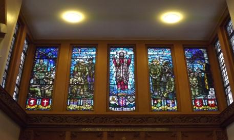 Amport House Chapel Stainedglass window