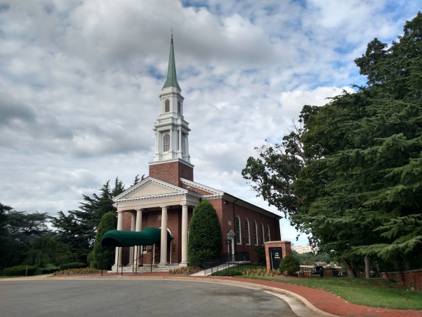 The Old Post Chapel at Fort Myer (built in 1934), used for services prior to burials at Arlington National Cemetery (photo by author)