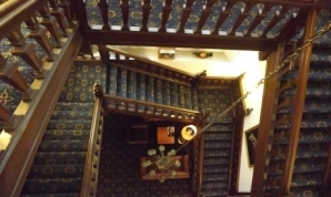 The Main Staircase at the Amport House