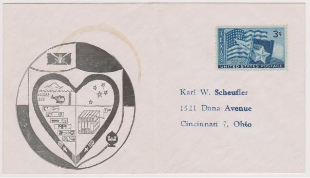 Chaplain Scheufler postal cover