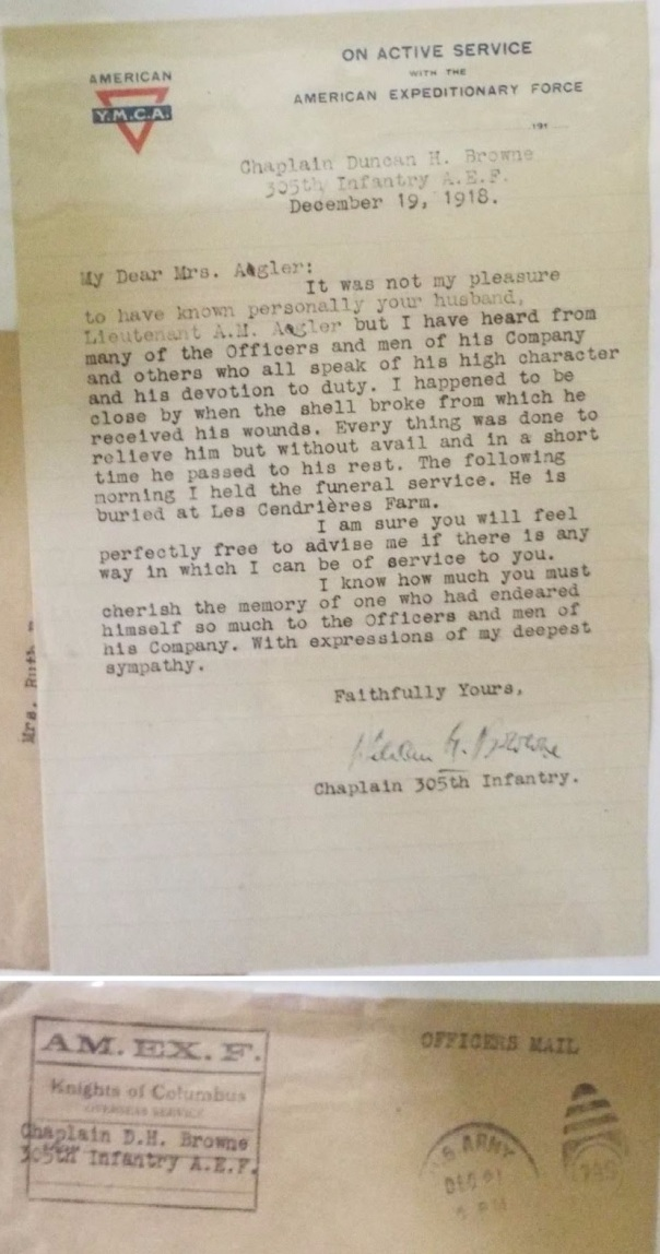 WW1-Chaplain-Brown-Letter-Full