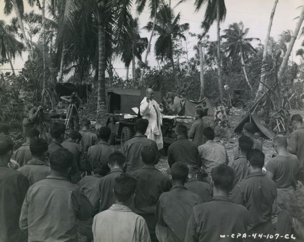 Chaplain Bridenstein on Enubuj Island