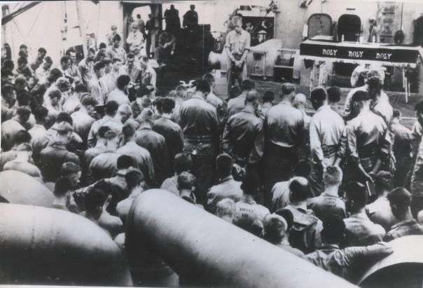 Chaplain Van Meter Iwo Jima
