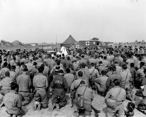 WW2 Navy Seabees Worship Service