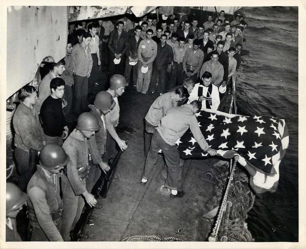 Coast Guard Burial at Sea 27 Mar 45