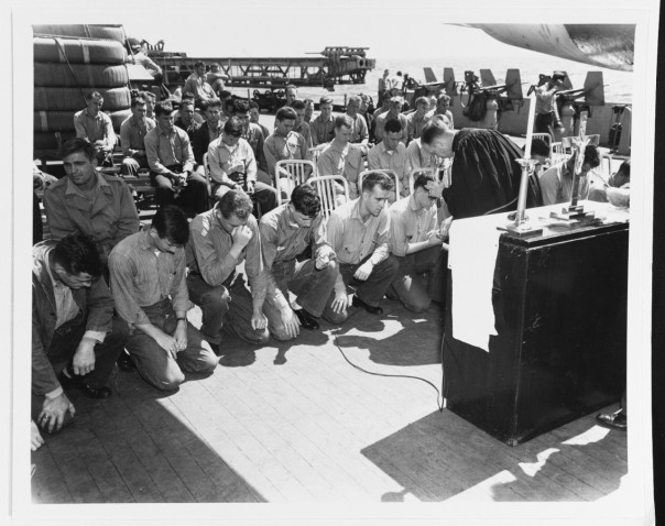 Worship on the USS Indiana