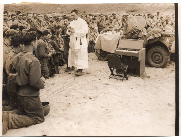 Normandy Beach Memorial Service 24 Jun 44