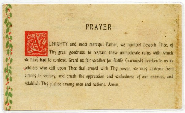 Patton's Prayer by Chaplain O'Neill