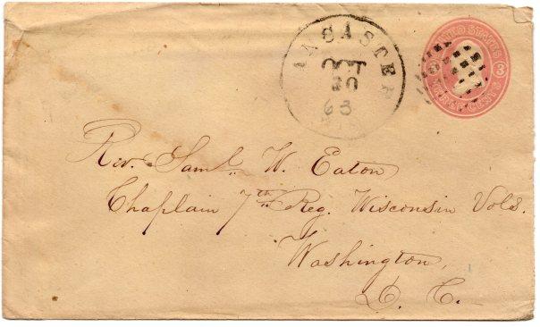Chaplain Samuel Eaton postal cover