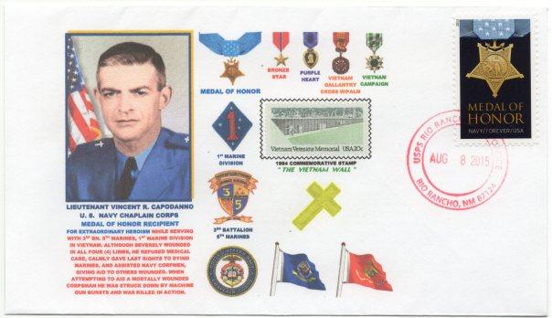 Chaplain Cappodanno postal cover