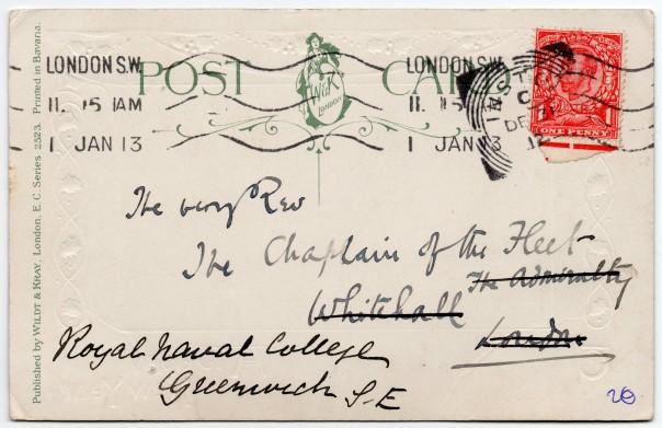 Chaplain of the Fleet 1913