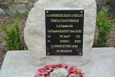 Choisy Au Bac France chaplain memorial