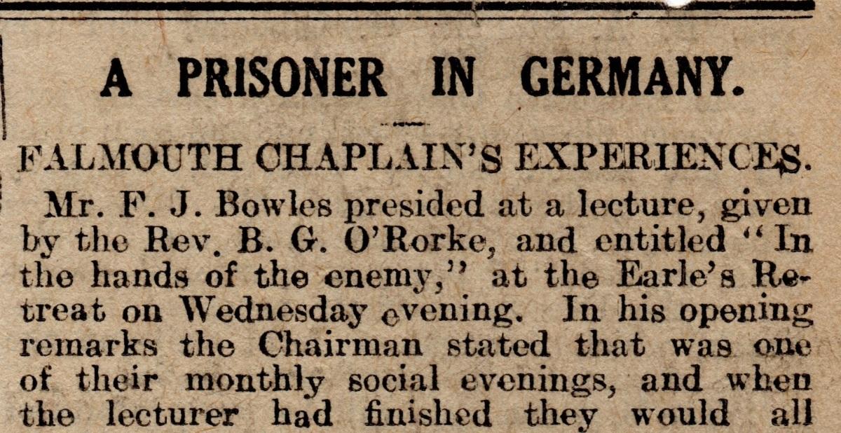 British Chaplain Prisoner In Germany The Chaplain Kit