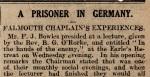 British Chaplain Prisoner inGermany