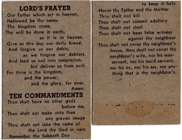 Chaplain Matchbook