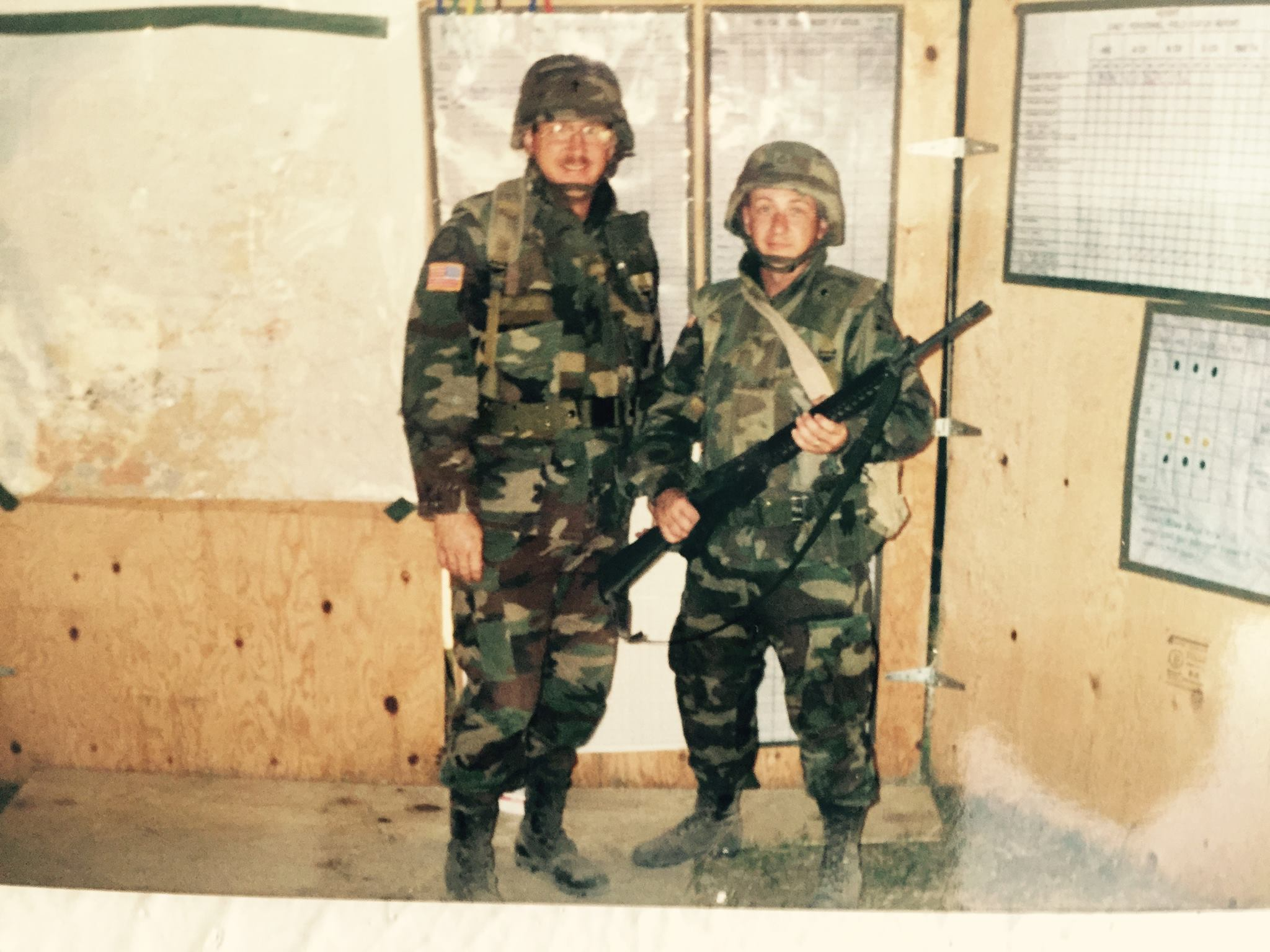 Chaplain Stone (left) With His Chaplain Assistant, PFC Johnny Proctor,  Haiti, 1994 (photo Courtesy Johnny Proctor).