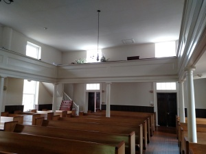 Balcony, or gallery originally intended for black members of the congregation.