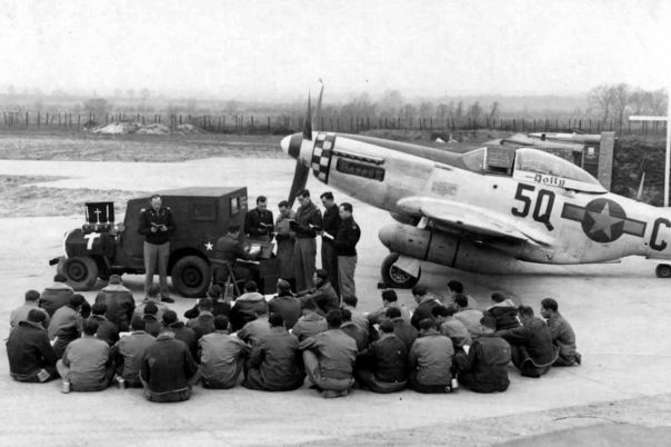 Easter services 339th Fighter Group April 1945