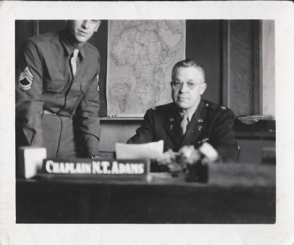 """and my chief clerk, Sgt. Salvatore J. Guglielmo"""