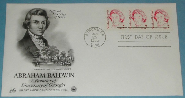 Abraham-Baldwin-FDC-Cover